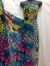 Diseñador Multicolor Floral / Zebra Print tejido de gasa Boda Luz