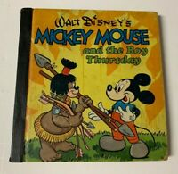 VINTAGE 1948 WALT DISNEY MICKEY MOUSE AND THE BOY THURSDAY BIG LITTLE BOOK