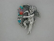 Angel Brooche with Natural Stones 925 Sterling Silver