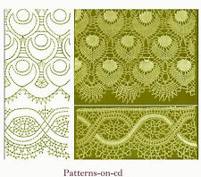 63 Bobbin Lace making patterns ca.1913 Russian Cd