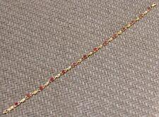 DAZZLING YELLOW GOLD 1.00ct RUBY & DIAMOND BRACELET (NEW)