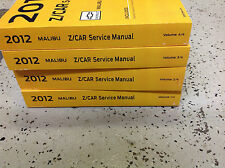2012 GM Chevrolet Chevy MALIBU Service Shop Repair Manual Set FACTORY NEW 2012