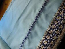 Trés large bordure étagere  bas drap rideau dentelle écru au métre ancien 38 cm