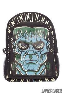 Jawbreaker Womens Frankenstein Backpack Alternative Gothic Goth Punk Steampunk
