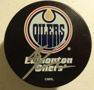 Autographed RYAN NUGENT-HOPKINS Signed Edmonton Oilers Hockey Puck