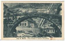 AOSTA (074) - PONT S. MARTIN Ponte Romano e centrale Idroelettrica - Fp/Non Vg