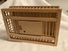 Miniature Decorative Hand-crafted Wooden Chicken Crate