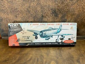 Vintage NOS Top Flite P-47N THUNDERBOLT Balsa Model Airplane Kit - WWII Fighter