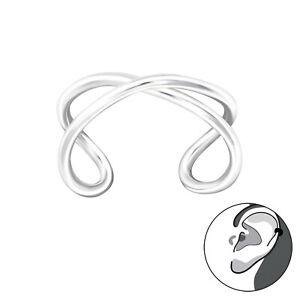 925 Sterling Silver Infinity Design Ear Cuff