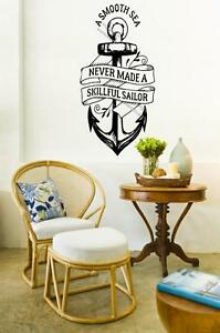 A Smooth Sea Never Made A Skillful Sailor Wall Sticker Motivational Art Decal UK