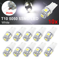 10pcs White T10 5-SMD 5050 LED Wedge Light Lamp Bulbs 2886X PC579 194 2825 HID