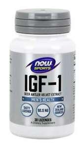 NOW Foods - IGF-1 Deer Antler Velvet Extract - 30 Lozenges 01/23EXP