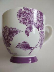 Portobello by Inspire Bone China Coffee Mug - Purple Floral Hydrangea