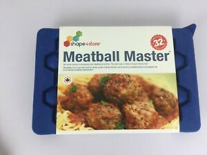 Shape Store Meatball Master Making Tool 32 1 oz Each Blue Silicone Made Canada