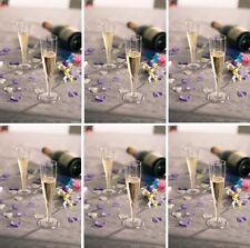 60 x Champagne Flutes 135ml Plastic Glasses Party Reusable & Disposable KCC2