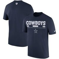 New Dallas Cowboys NFL Football Nike Dri-Fit Staff Shirt Navy Blue Men's Medium