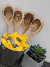 More details for the beatles gift wooden spoons engraved john lennon, paul mccartney, ringo
