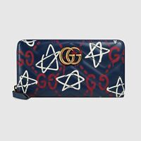 Gucci Ghost Navy Blue Quilted Leather Marmont Continental Wallet $850
