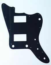 For Japan Jazzmaster Guitar Pickguard with PAF Humbucker, 1 Ply Black