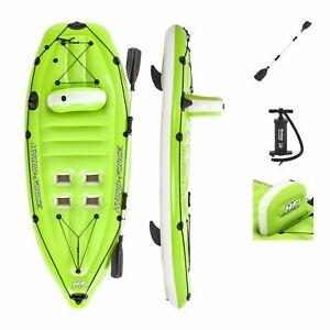 Bestway Fishing Kayak Boat Inflatable Canoe Koracle 1 - Person Hand Pump Paddle