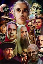 Hammer Horror Pictures. a4 ORIGINAL PRINT. Illustration by Paul Winters