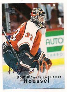 1995/96 Be A Player Auto Dominic Roussel Philadelphia Flyers