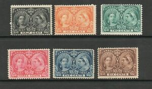CANADA SG 121-9 1897 JUBILEE 1/2 CENT - 6 CENT VALUES M/M