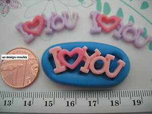 I Love You Wedding/Valentine Silicone Mould Sugarcraft, Cupcake & Cake Toppers