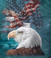 American Bald Eagle Flag Tie Dye t shirt L the Mountain July 4th