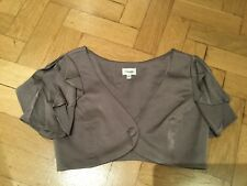 Temperley London New & Gen. Ladies Grey Viscose Blend Bolero Jacket Size 8 UK