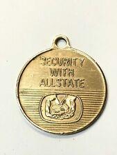 Vintage Allstate Insurance Brass Key Ring