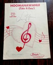 1946 Hawaiian Sheet Music - HOOMANAWANUI (Take It Easy) FREE SHIPPING