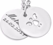 Schutzengelkette silber, Namenskette 925 Silber, Kette mit Namen