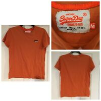 Womens T shirt Vintage SUPERDRY Orange SIZE Medium M (794)