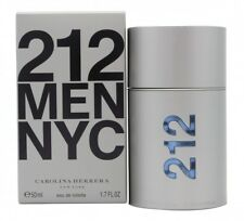 CAROLINA HERRERA 212 MEN EAU DE TOILETTE EDT 50ML SPRAY - MEN'S FOR HIM. NEW