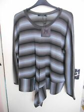 Lauren Vidal Tonal Nuage Stripe Knit Sweater Poncho XL 20 22 Bnwt Sold Out £89