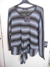 Lauren VIDAL Tonale Nuage Stripe Knit Sweater Poncho XL 20 22 BNWT TUTTO ESAURITO £ 89