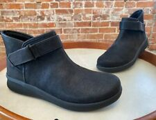 Clarks Cloud Steppers Black Comfort Ankle Boot Bootie Sillian 2.0 West NEW