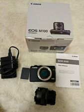 Canon EOS M100 Mirrorless Camera Body 24.2 MP (with lens but fault)