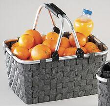 Klappbügelkorb schwarz Alu / Nylon Einkaufskorb Korb Körbe Tasche Haushalt Küche
