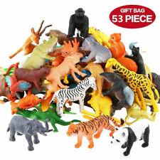 Mini Jungle Wild Farm Animals Toys Figures Zoo Educational Toys For Children