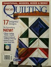 McCalls Quilting Delightful Designs Clever Cutting Mar Apr 2016 FREE SHIPPING JB