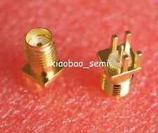 50pcs Connector SMA Female jack solder edge 1.6mm PCB clip mount straight 5.08mm