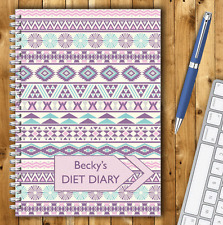 PERSONALISED A5 DIET DIARY, WEIGHT LOSS & FOOD TRACKER, DIETING, SLIMMING LOG 08