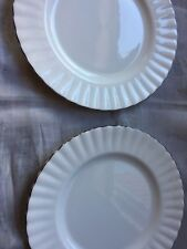 CHANTILLY plates Royal Albert platinum band Set of 2