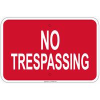 "No Trespassing Sign 8""x12""  aluminum Sign Retail Store"