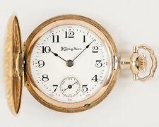 Antique NICE Hampden 3/0 size 17 jewel Pocket Watch in NICE Hunter Case! Runs!