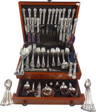 Chantilly by Gorham Sterling Silver Dinner Flatware Set 18 Service 165 Pcs Huge!