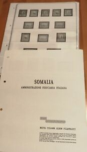 Somalia AFIS cpl. Fogli Mari (a 4 fori f.to USA) Nuovi con tasche