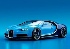 BUGATTI CHIRON Sport Car Large Poster Wall Art Print Size A4 A2 A1 A0 MADE IN UK